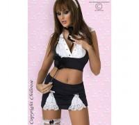 Chilirose CR3124L/XL - Игровой костюм сексуальной горничной L/XL, (черный)