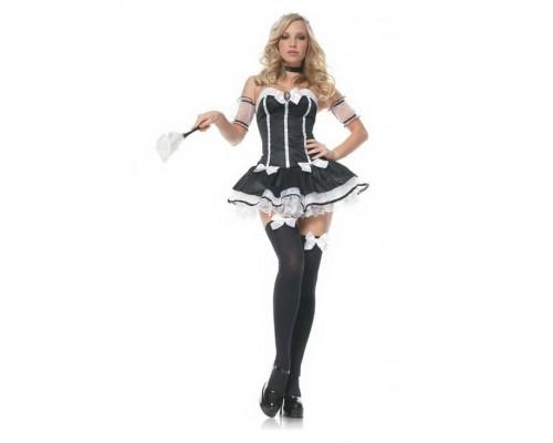 Leg Avenue LEG83441M - Костюм Charming Chambermaid M, (черный)