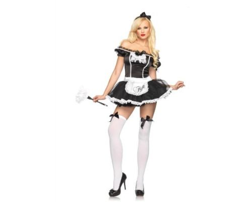 Leg Avenue LEG83617S/M - Костюм French Maid Fifi S/M, (черный)