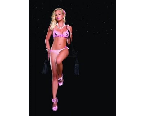 Leg Avenue LEG81238Lpink - Секси комплект Очаровывающий L, (розовый)