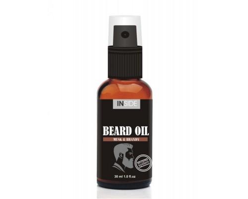 Inside Beard Oil средство для бороды с маслом макадами и запахом Мускуса и Бренди 30 мл.