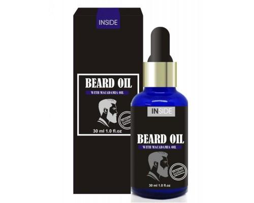Inside Beard Oil средство для бороды c маслом макадами и миндальным маслом 30 мл.