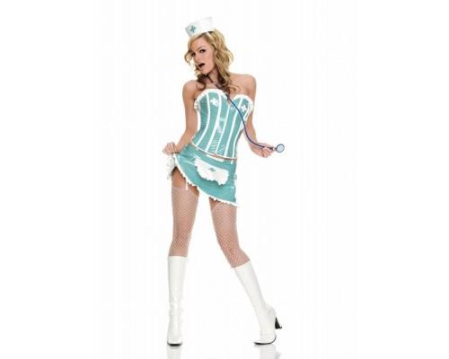 Leg Avenue LEG83224M - Сексуальный костюм медсестры M, (бирюзовый)