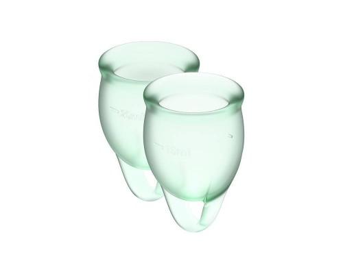 Satisfyer Feel Confident - набор менструальных чаш, 15 мл и 20 мл (светло-зеленый)