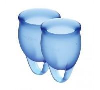 Satisfyer Feel Confident - набор менструальных чаш, 15 мл и 20 мл (синий)
