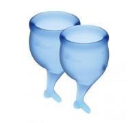 Satisfyer Feel Secure - набор менструальных чаш, 15 мл и 20 мл (синий)