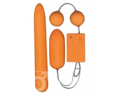 Вибронабор Funky Fun Box (оранжевый)