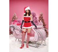 Leg Avenue Jolly LEG83468M/L - Новогодний Радостный костюм, M/L, (красный)