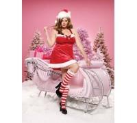 Leg Avenue Santa's Little Helper LEG83125X 3X-4X - Платье Помощницы санты, XXXL (красный)