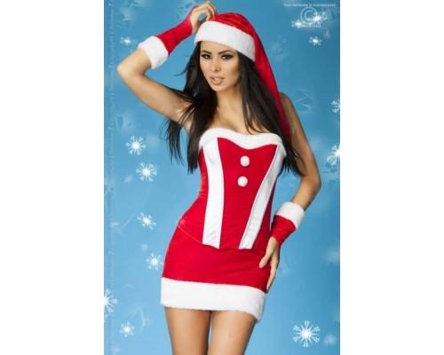 Сексуальный Рождественский костюм (красный с белым)