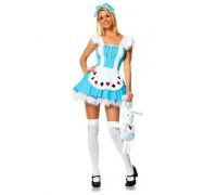 Leg Avenue Alice Girl LEG83064XS - Сексуальный новогодний костюм XS, (голубой)