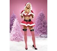 Leg Avenue LEG53054L - Костюм Santa Claus L, (красный)