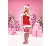Leg Avenue Jingle Bell Baby leg83464M - Костюм Новогоднего Колокольчика M, (красный)