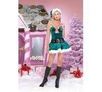 Leg Avenue Christmas Kandy LEG83601M/L - Костюм Рождественская Конфетка M/L, (бирюзовый)
