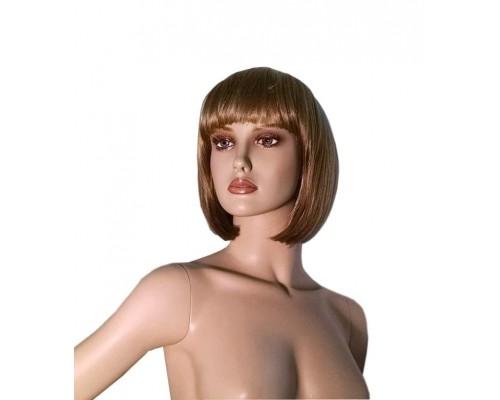 Женский парик каре (темный шатен)