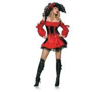 Leg Avenue LEG83157L - Костюм Пирата L, (красный)