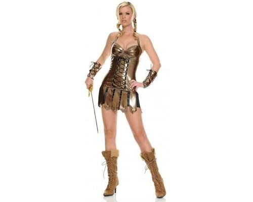 Leg Avenue LEG83241M - Виниловы костюм Воина M, (золотой)