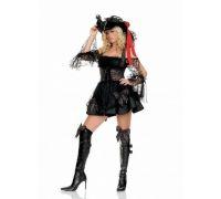Leg Avenue LEG83226S - Костюм Роскошного Пирата S, (черный)