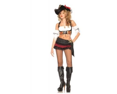 Leg Avenue Pirate Lass LEG53209XS - Секси костюм Пиратки XS, (белый)