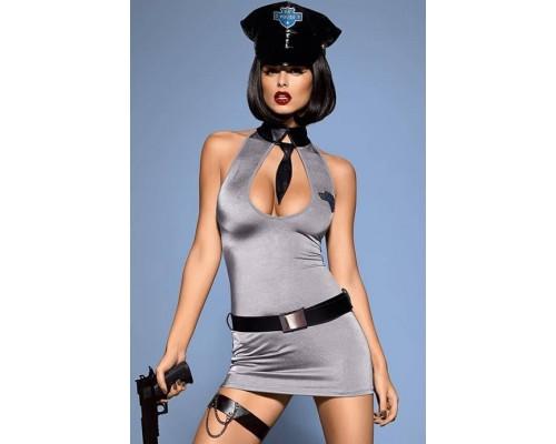 Эротический костюм Obsessive Police dress (L/XL)