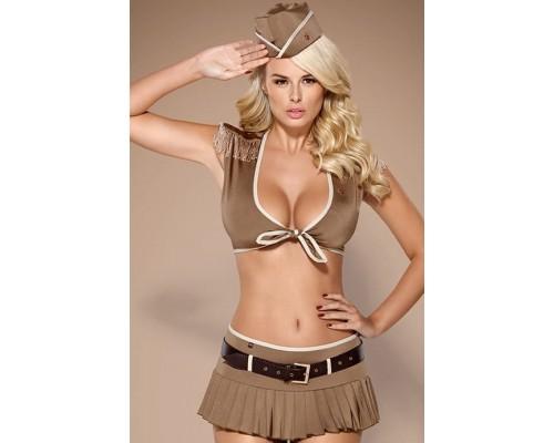 Игровой эротический костюм солдата Obsessive 814-CST-4 soldier (L/XL)
