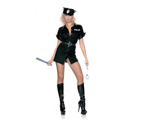 Leg Avenue Sexy Cop LEG8856M/L - Костюм сексуального полицейского M/L, (черный)