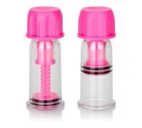 Вакуумные помпы для сосков Vacuum Twist Suckers (розовый)