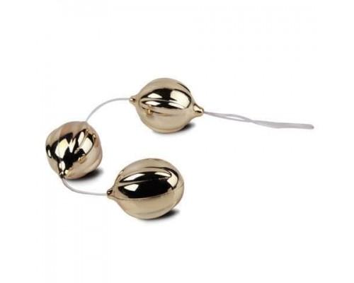 Вагинальные шарики FunZone ViBalls Triple Silver (золотистый)