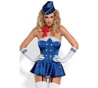 Сексуальный костюм Obsessive Stewardess corset (L/XL)