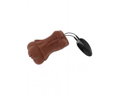 Hidden Desire Bangers Super Wet Tight Twat Vibr. - реалистичный мастурбатор с вибрацией 13,5х1см (коричневый)