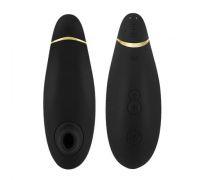 Womanizer Premium - Вакуумный стимулятор клитора, 15,5х5 см (черный с золотым)