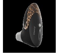Womanizer W500 - вакуумный стимулятор клитора с кристаллом Swarovski, 12х6 см (черный с леопардом)