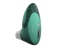 Womanizer W500 - вакуумный стимулятор клитора с кристаллом Swarovski, 12х6 см (зеленый)