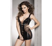 Эротическая сорочка-платье Passion DONATA CHEMISE черная
