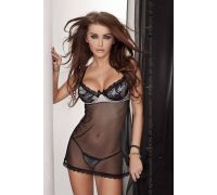 Женская эротическая сорочка Passion Erotic Line VELA CHEMISE черная