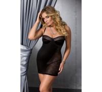 Платье-сорочка большого размера Passion CAROLYN CHEMISE черное