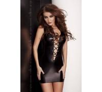 Эротическое платье под латекс Passion LIZZY DRESS черное