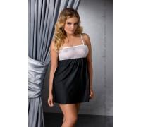 Эротическая сорочка большого размера Passion LARISA CHEMISE черная