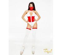 """Эротический костюм медсестры """"Развратная Аэлита"""" M, боди на молнии, маска, чулочки"""