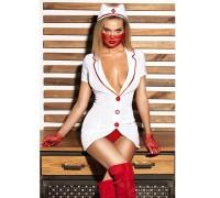 """Эротический костюм медсестры """"Исполнительная Луиза"""" М, халатик, шапочка, перчатки, маска"""