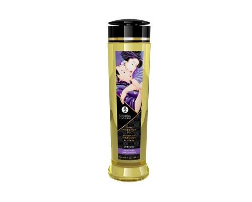 Массажное масло Shunga Libido - Exotic Fruit (240 мл) натуральное увлажняющее