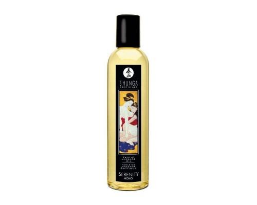 Массажное масло Shunga Serenity - Monoi (250 мл) натуральное увлажняющее