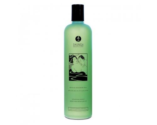 Гель для душа Shunga Shower Gel - Sensual Mint (500 мл) с растительными маслами и витамином Е