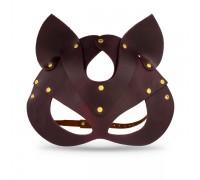 Премиум маска кошечки LOVECRAFT, натуральная кожа, фиолетовая, подарочная упаковка