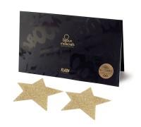 Пэстис - стикини Bijoux Indiscrets - Flash Star Gold, наклейки на соски