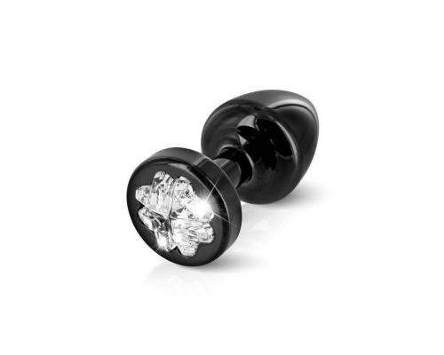 Пробочка Diogol Anni R Clover Black Кристалл 25мм, 4 кристалла Swarovsky в виде листка клевера