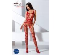 Бодистокинг Passion BS058 red, комбинезон, очень воздушный
