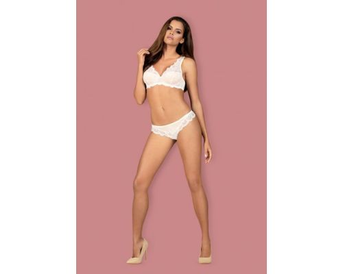 Комплект Obsessive 853-SET-2 set 2-pcs white L/XL