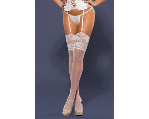 Чулки Obsessive S803 Stockings белый L/XL