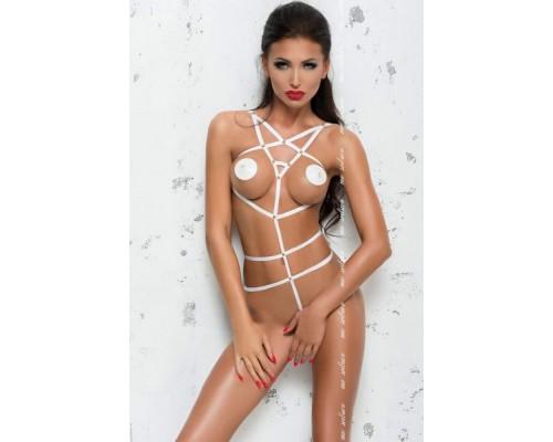 Боди из тонких лент Me-Seduce Lola Body, White SM
